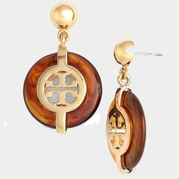 Picture of Tory Burch Deco Logo Resin Earrings
