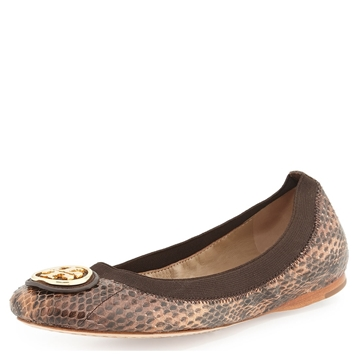 Picture of Tory Burch Caroline Ballet Flat - Two Tone Snake